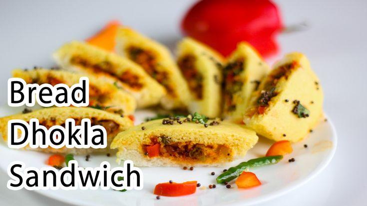 Bread Dhokla Sandwich Recipe in Hindi - Indian Breakfast Recipes - Eveni...