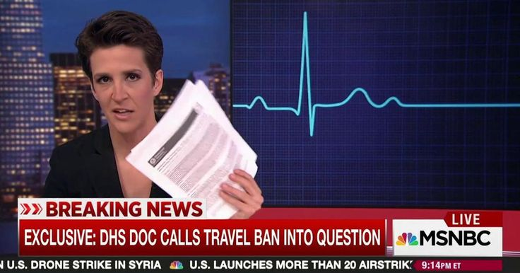 A document obtained exclusively by The Rachel Maddow Show presents evidence that undermines the credibility of Donald Trump's argument for a travel ban