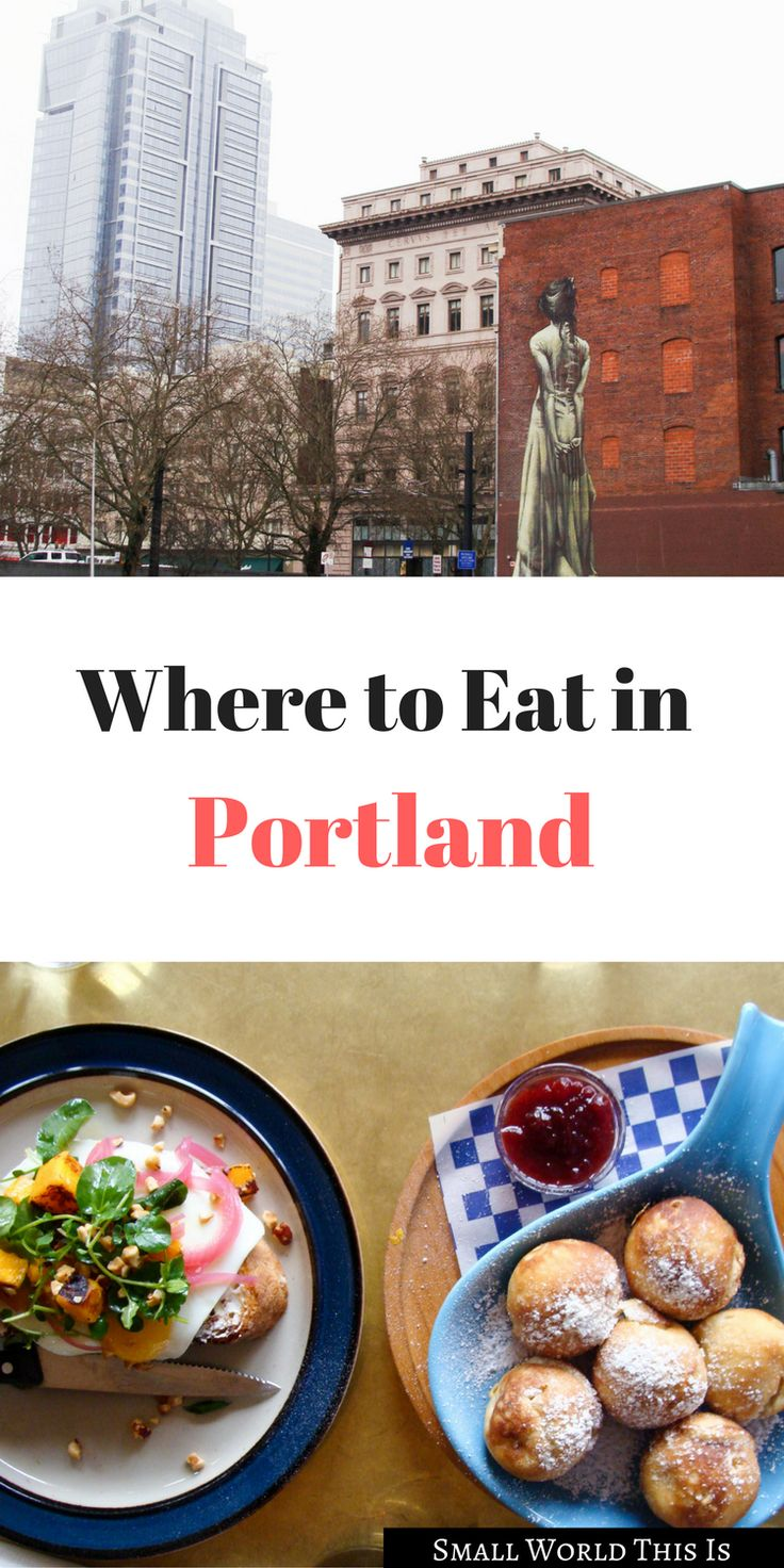 Wondering where to eat in Portland? From Danish pancakes to a cozy-family run Italian restaurant, here's some places to start | portland oregon travel | portland oregon restaurants