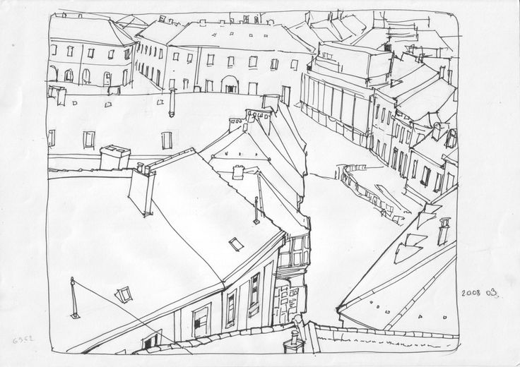Urban Sketch of Eger, Hungary