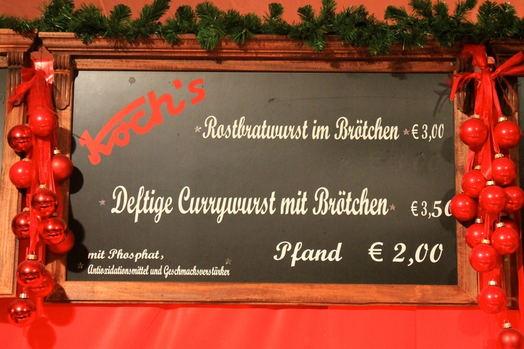 Saussage's prices of the Christmas's Market at Mannheim, Germany