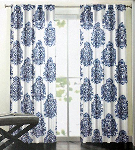 Nicole Miller Long Window Curtain Panels 52 Inches by 96 ...