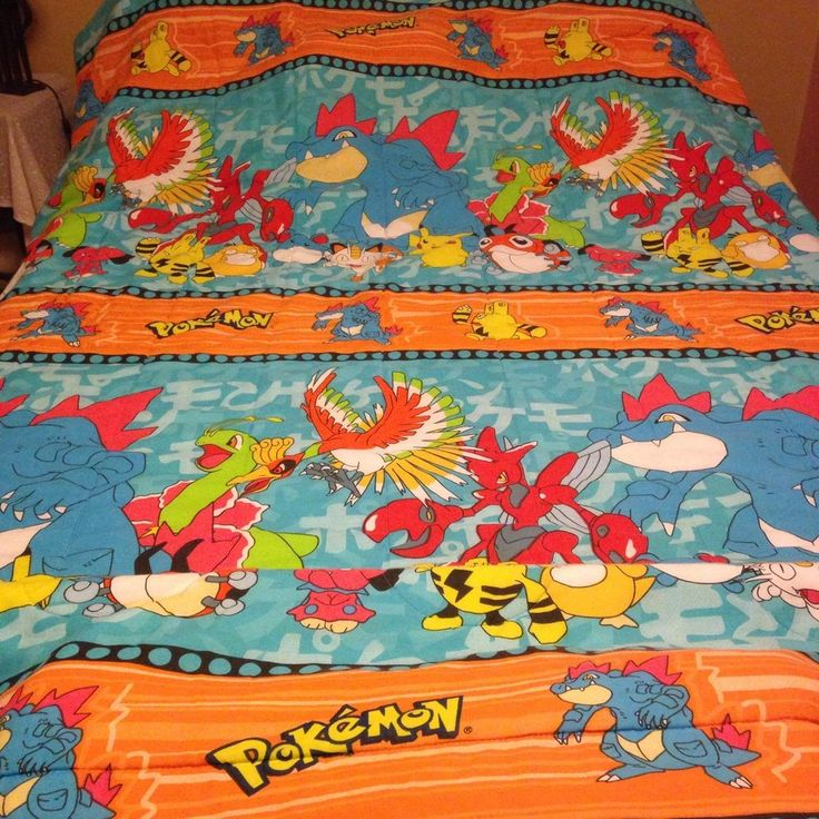 1998 Pokemon Twin Size Bed Comforter Blanket 2nd