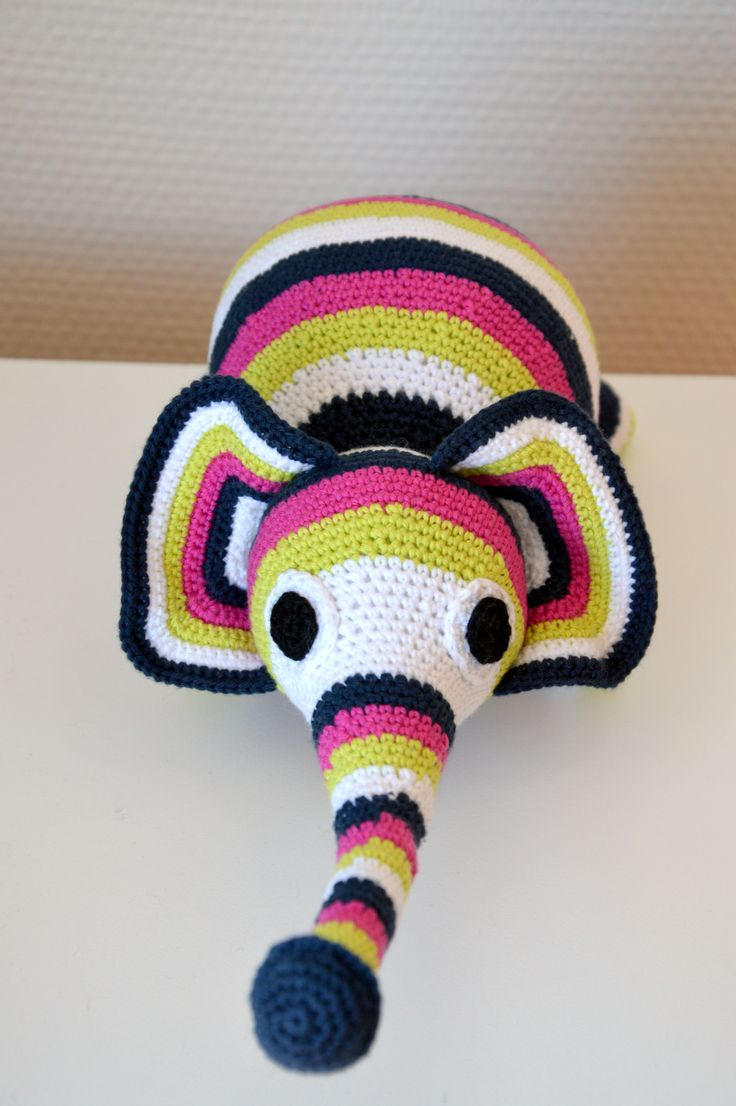 Crochet toy elephant