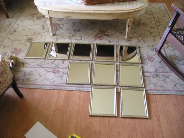 Could connect lots of frames/mirrors with loops to fill window space... Jennifer Rizzo: How build a dramatic mirror from the dollar store...