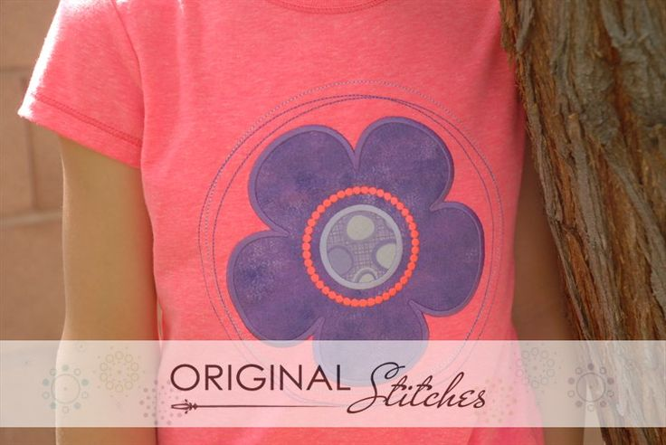 Circle Flower, Machine Embroidery and Applique Designs Downloads | Original Stitches - Embroidery and Applique Design Store