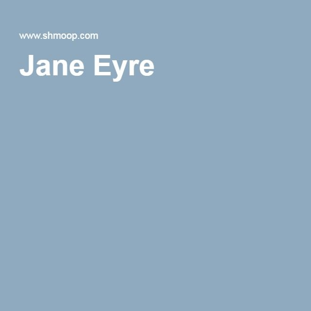 an analysis of jane eyre s 1145 quotes from jane eyre: 'i am no bird and no net ensnares me: i am a free human being with an independent will.