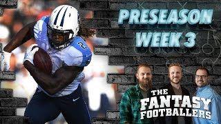 Fantasy Football 2016 - Rising Stars, Preseason Highlights, News, Injuries - Ep.