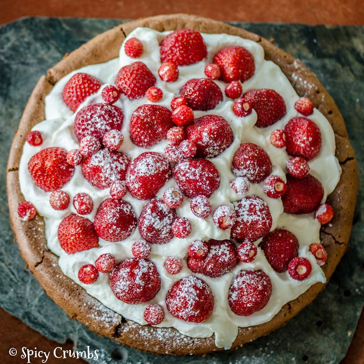 Jahodový dort bez mouky