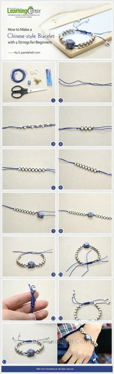 Jewelry Making Tutorial-How to Make Chinese-style Bracelet with 2 Strings for Beginners   PandaHall Beads Jewelry Blog