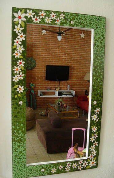 Moldura Floral Mosaico