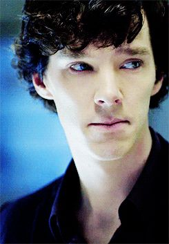 Gif. Okay, this is one of my favorite parts, because Sherlock looks so genuinely…