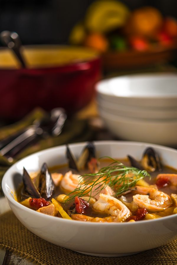 Cioppino _ Originated in the North Beach area of San Francisco by Italian immigrants in the mid to late nineteenth century. Local fisherman pitched in leftovers from the day's catch, including dungeness crab, shrimp, scallops, clams, mussels, and fish | Southern Boy Dishes