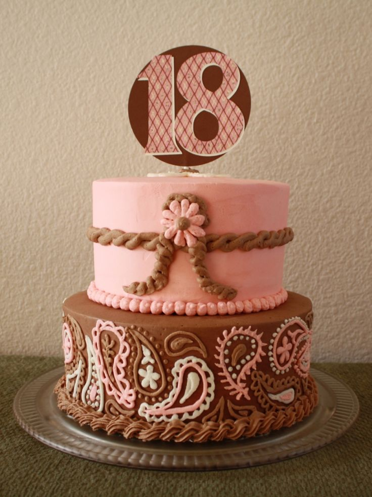 cowgirl birthday cake | Party Cakes: Western Pink and Brown Cake