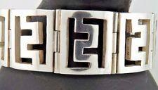 VC TAXCO MEXICO Plata esterlina pulsera de enlace modernista 108g Vintage