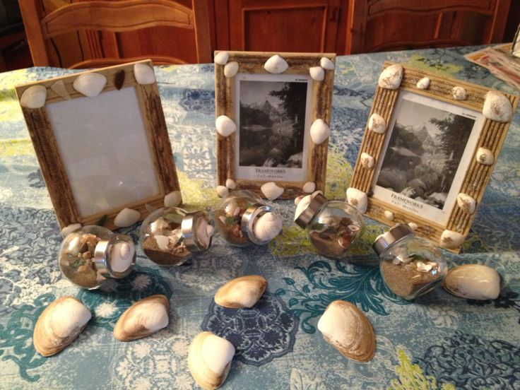 Treasures we made from shells we collected this summer in Cap Pelé, New Brunswick ~ August 2013
