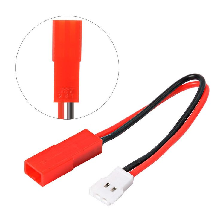 Molex 51005 Male Connector Battery Charger Converter Lead to Red Female JST Plug #Molex