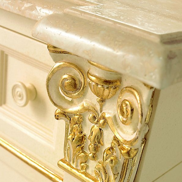 Gloria Close Up Of Real Gold Leaf Inlay On Furniture