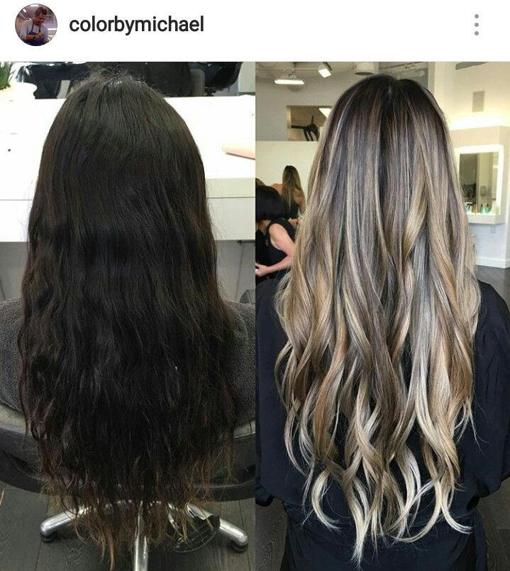 Hihtlights. From dark to light ash golden brown. Balayage. Gorgeous long hair