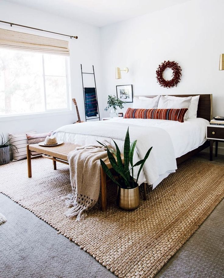 Boho Chic California Casual Master Bedroom