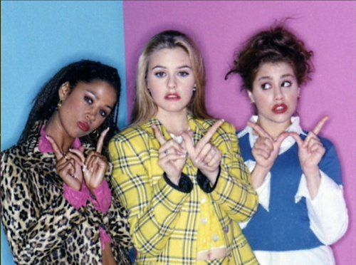 Alicia Silverstone as Cher, Stacey Dash as Dionne and Brittany Murphy as Tai #Clueless #90s
