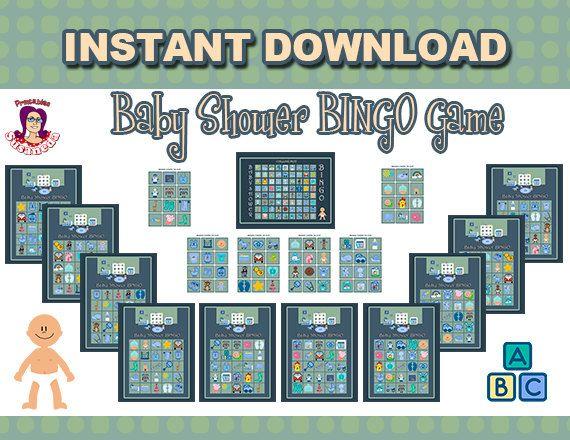 Este juego de Bingo especialmente pensado para Baby Shower, consta de los siguientes archivos digitales: - 10 Cartones de Bingo en tamaño 11 X