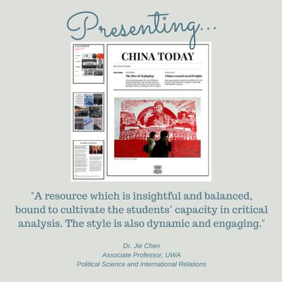 """The new Year 10 Civics and Citizenship course begins with a comparative study between Australia and a nation in Asia. The content descriptor reads: """"The key features and values of Australia's system of government compared with ONE other system of government in the Asia region."""" China Today is a 14-page resource that begins by prompting students to 'take' a snapshot of China's geographical location, economy and population. As students work through the resource, they will gain a sophisticated…"""