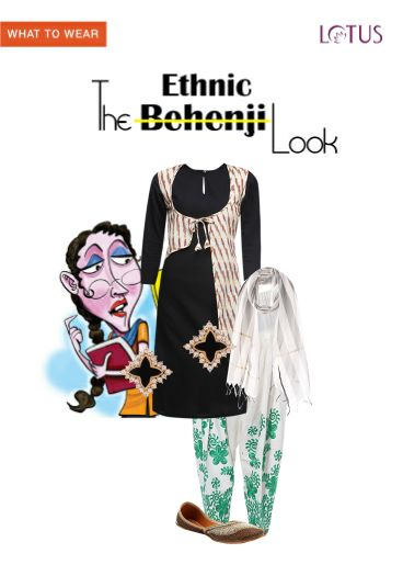'The Ethnic Look' by me on Limeroad featuring Black Kurtas, White Salwars with White Dupattas