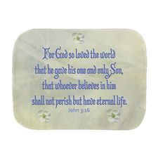John 3:16 Dogwood Burp Cloth