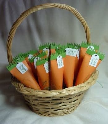 Des sacs-cadeaux en forme de carotte