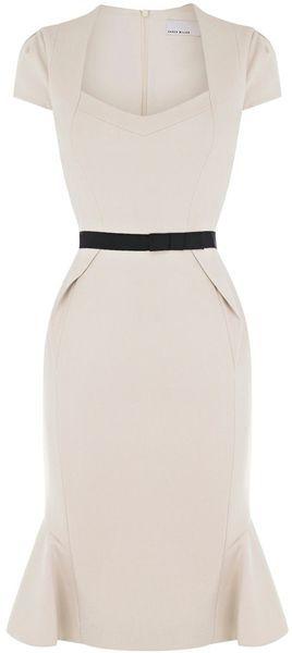 White dress. black belt. Perfect silhouette.