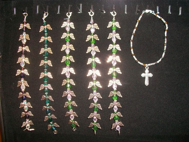 Angel bracelets. may request. all handmade. $20.00 each. Hot seller right now.  #Angels #angel #bracelet #jewelry