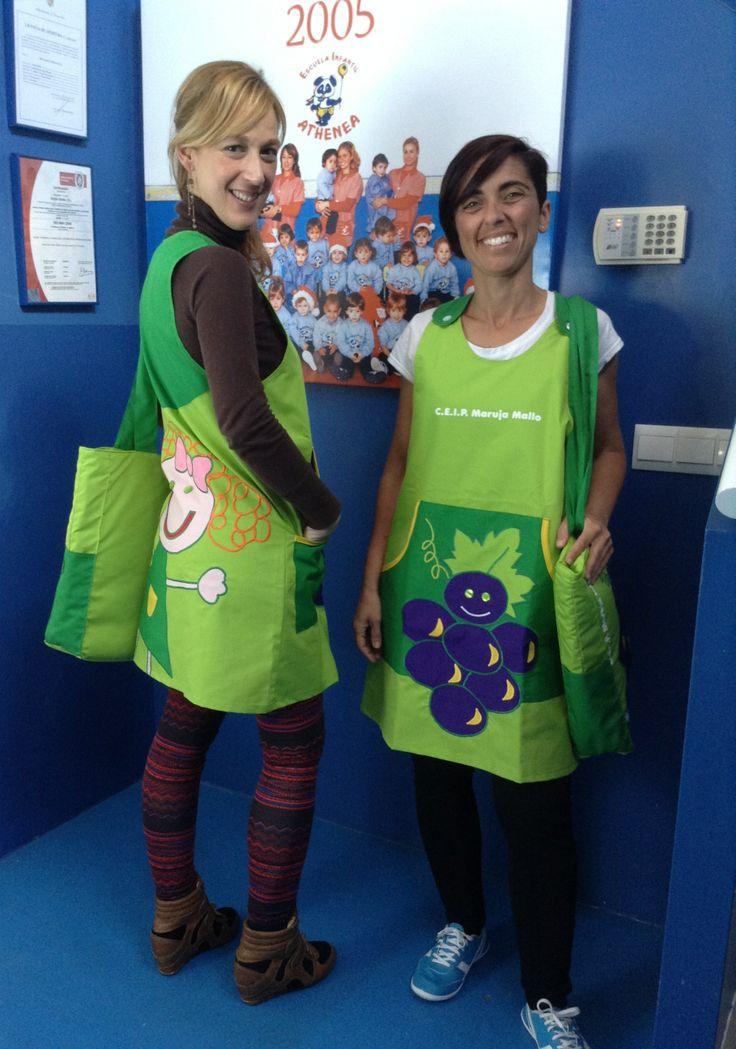 Uniformes Educadoras CEIP Maruja Mallo www.rosareina.com #uniformes #