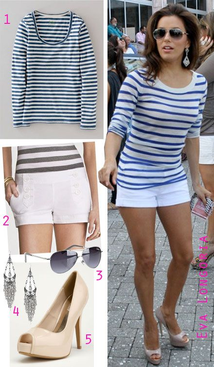 Nautical stripes and shorts