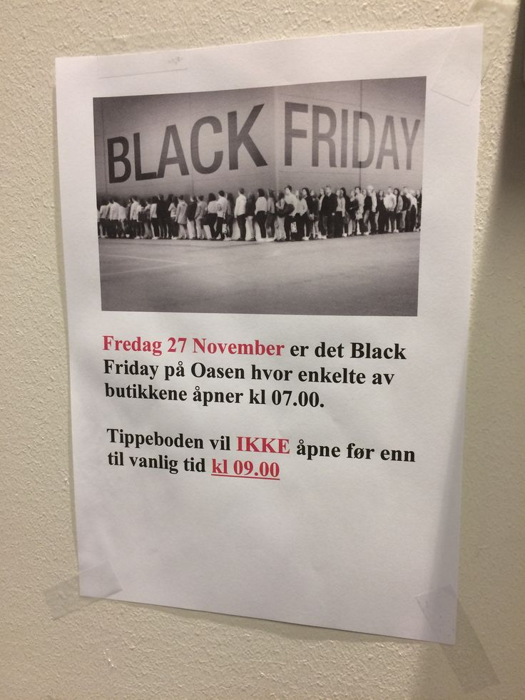 Amazing with a Black Friday sale in Norway without even having Thanksgiving.