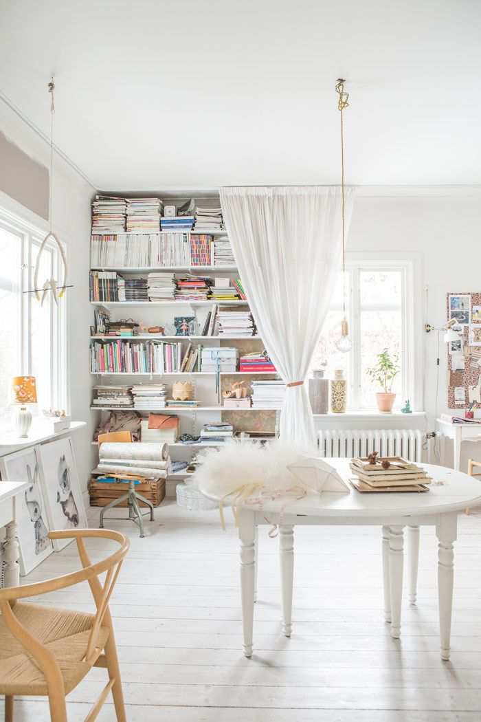Shop owner, photographer and stylist Sofia Jansson and musician Kristo Jansson's house (built 1913) in Katrineholm, Sweden. Photography by Sofia Jansson.