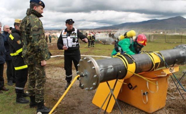 "Exercise ""Gamma Palazuelos 2013"" of the Military Emergency Unit."