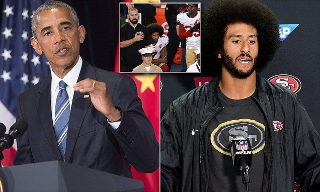 Obama says Colin Kaepernick is 'exercising his constitutional right' #Daily Mail..Oh just shut up!!!