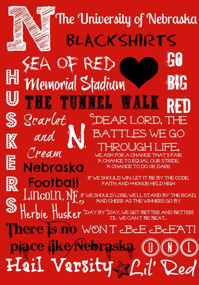 Nebraska Cornhusker Subway Art I made :)