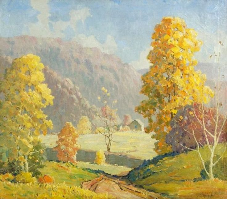 John Adams Spelman (1880-1941) —  Mountain Landscape   (800x699)