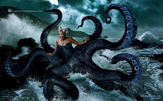 Queen Latifah as Ursula ~ Annie Leibovitz Disney Dream Portraits