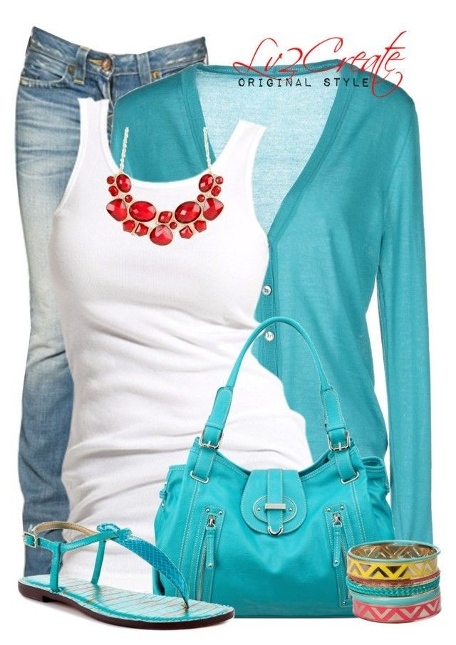 """""""Turquoise!"""" by lv2create ❤️ liked on Polyvore featuring True Religion, Annapurna, Soaked in Luxury, Nine West, Sam Edelman, women's clothing, women's fashion, women, female and woman"""
