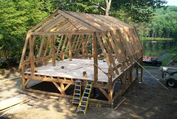 How to design pole barn kits with gambrel roof things i for Gambrel roof barn kits