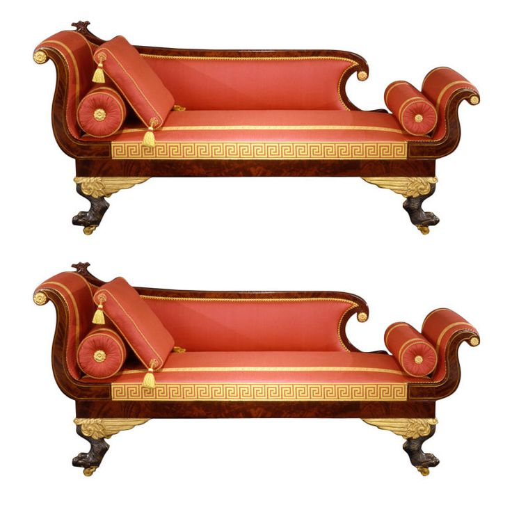 1stdibs.com | Pair Recamier Sofas with Winged Paw Feet Attributed to Duncan Phyfe (1768–1854), New York, about 1815–20
