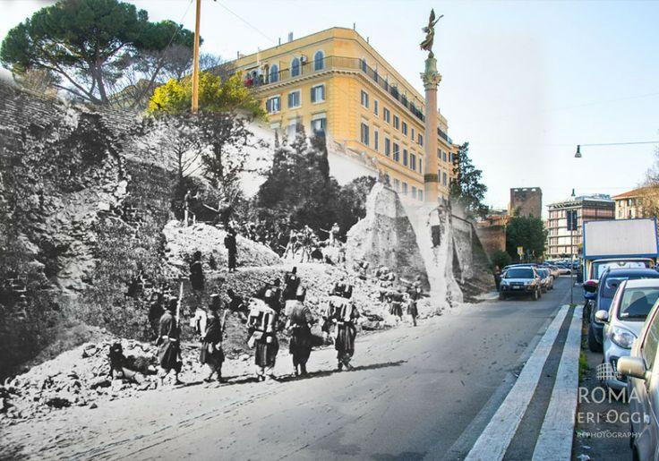 La Breccia di Porta Pia - #rephotography #rome #italy