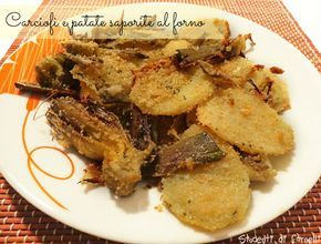Carciofi e patate saporite al forno è un contorno sfizioso ottimo per consumare i carciofi in modo gustoso. Carciofi e patate da consumare come piatto unico