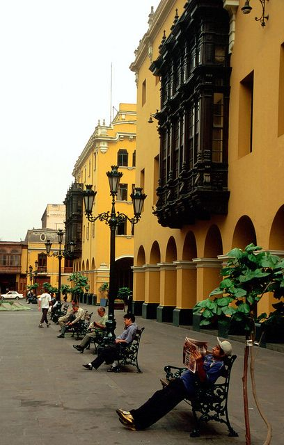 Lima, Peru - boxed-out windows add  interesting architecture.