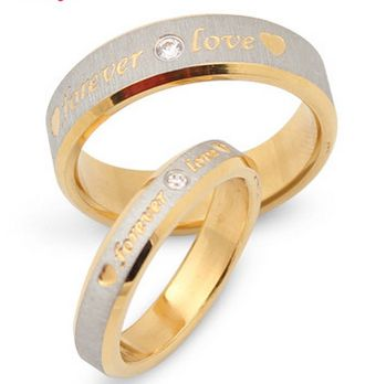 Ring Lettering R110ST# Couple Rings 2014 Fashion Sale Forever Love  Steel Jewelery Aneis the Ring