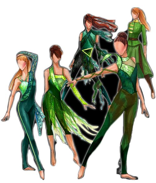 Color guard costumes
