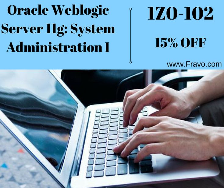 High quality training material of Oracle Weblogic Server 11g: System Administration I Exam 1Z0-102 in just a simple click: https://www.fravo.com/1Z0-102-exams.html with 15% off. #Certification #Studyguide #Oracledumps #Servercourses #Administrationtraining